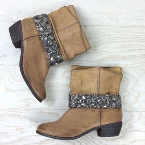 Naughty Monkey / Distressed Bling Ankle Boot 8